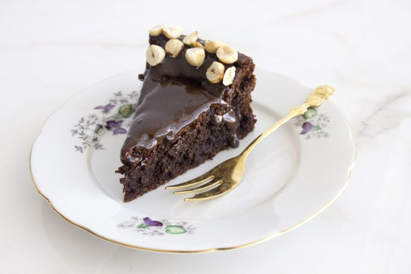 Coffee Hazelnut Chocolate Cake