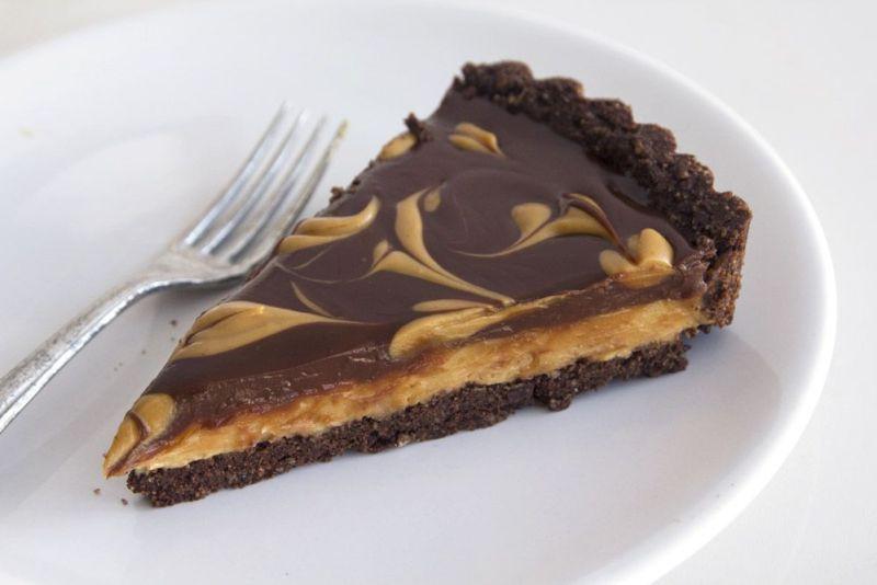 טארט שוקולד וחמאת בוטנים כשר לפסח