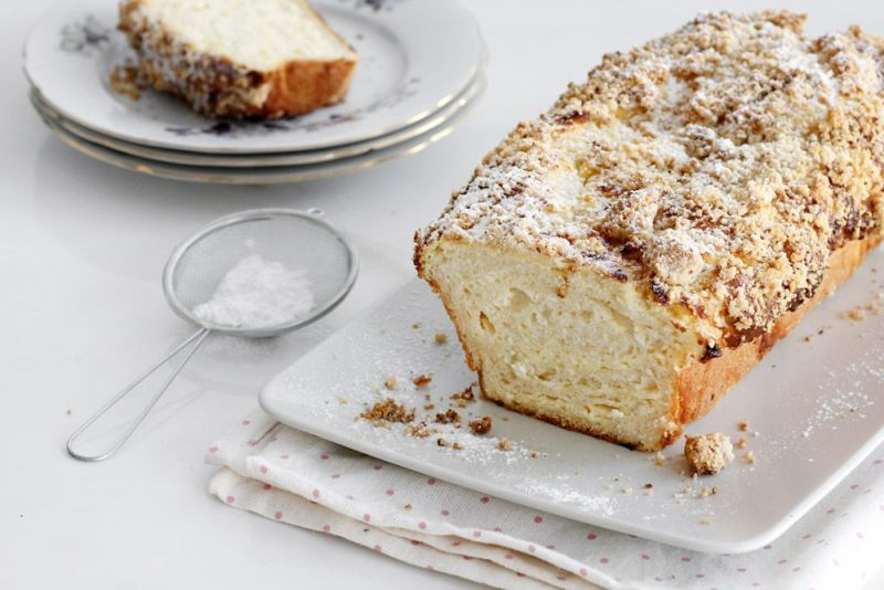 Cheese Babka with Almond Streusel