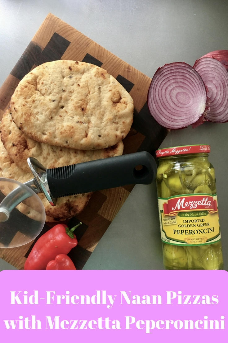 Transform Meatless Monday with Kid-Friendly Naan Pizzas with Mezzetta Peperoncini