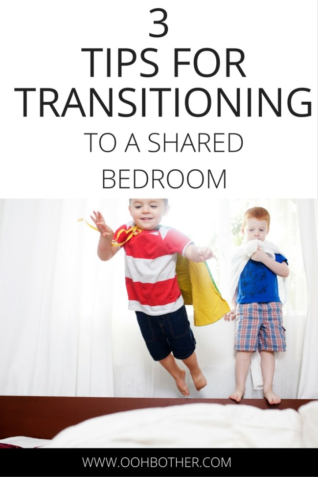 How to transition kids to a shared bedroom.
