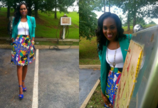 style-files-with-pretty-price-sunny-leigh-vinatge-thrifted-skort-printed-shorts-vince-camuto-blazer-bebe-suede-blue-heels-16