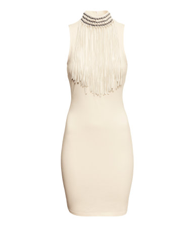 H-M-Jersey-dress-FRINGE-COLLAR-DRESS