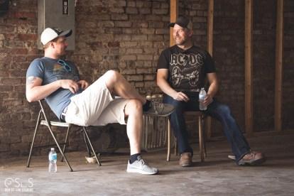 Cinematographer Ben Vogelsgang and Director Chris Grega discuss strategy.