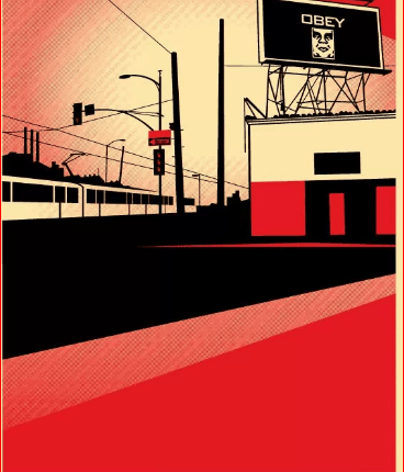 obey roof top poster