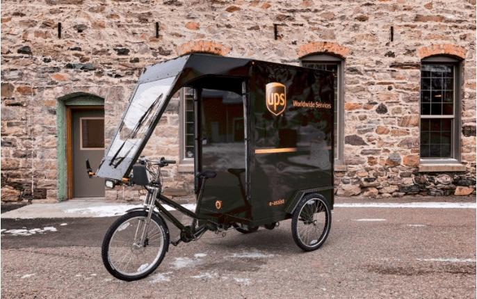 UPS branded trike