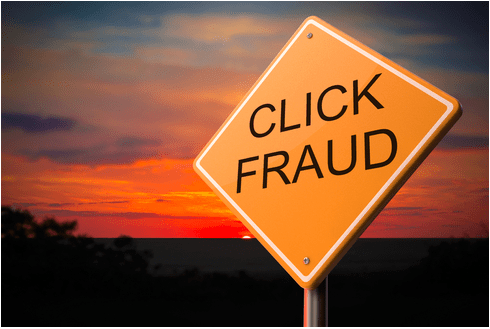 click fraud sign