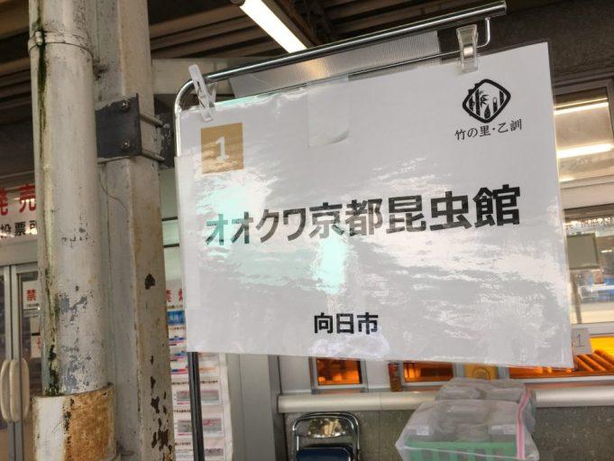 竹の里・乙訓物産展 オオクワ京都昆虫館の看板