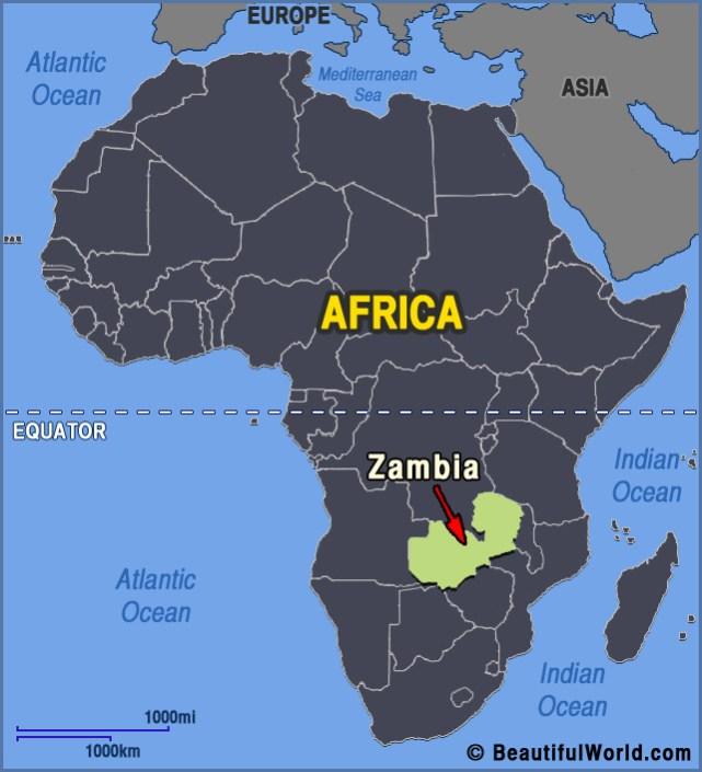 Zambia, Africa Map