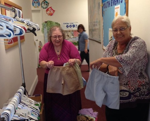 shorts made by the Dorcus Club to be taken to Nicaragua