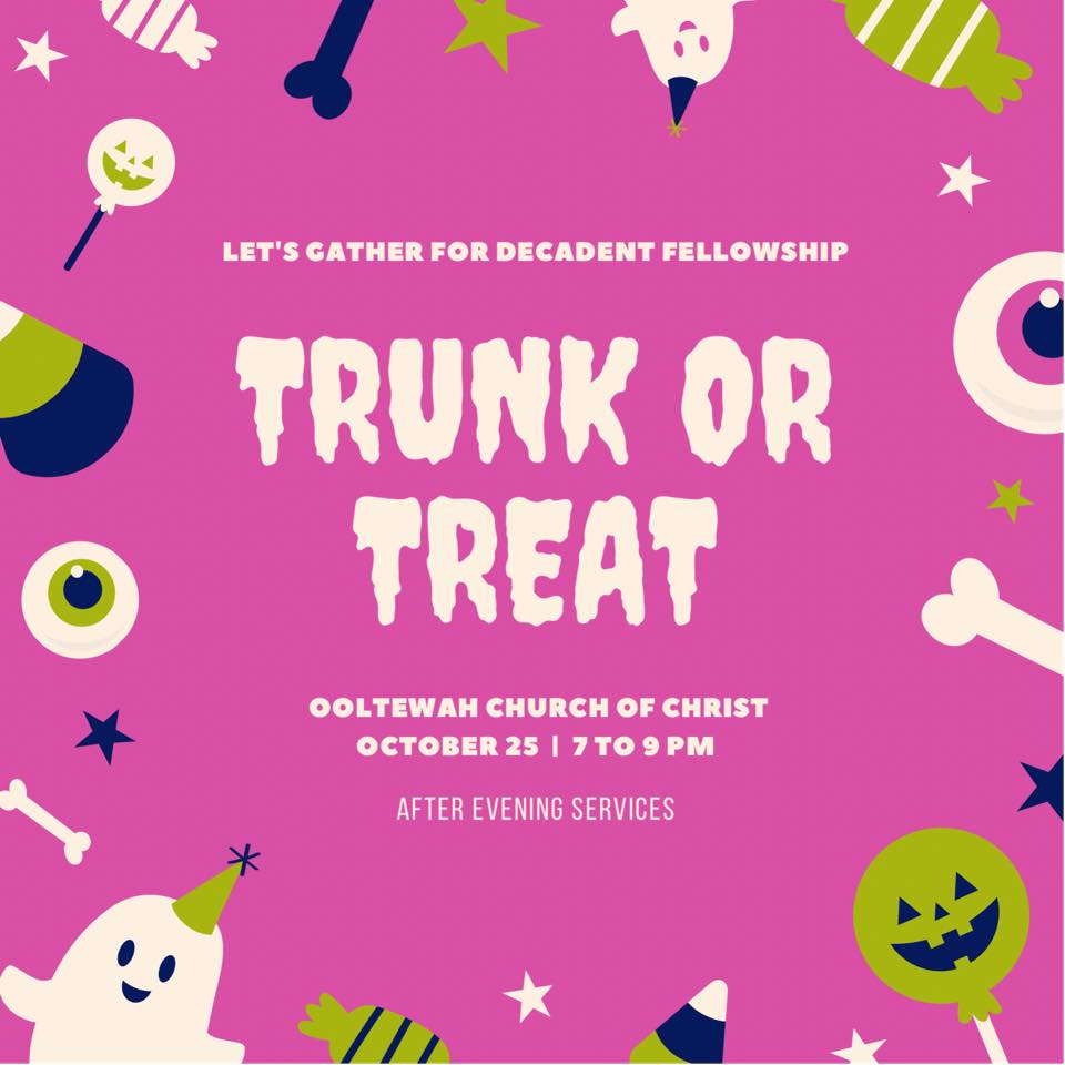 Trunk or Treat 2020 Banner