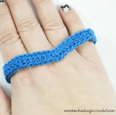 2 - Free Pattern Simply Easy Chevron Bracelet @OombawkaDesign