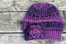 Flat View | Enchanted Infinity Slouch Hat | Free Pattern @OombawkaDesign