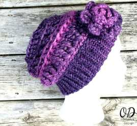 Flower View | Enchanted Infinity Slouch Hat | Free Pattern @OombawkaDesign