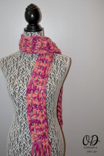 2 #MixologyYarns Classy and Quick 1 Skein Scarf Free Pattern