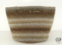 back view - The Small Project Yarn Basket