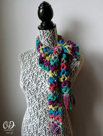 Scarf of the Month Club - March - Rainbow of Butterflies