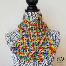Rainbow Pebbles Infinity Scarf Free Pattern Oombawka Design 9