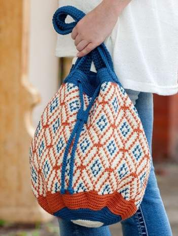 Spanish Tile Bag - Learn to Tapestry Crochet - Annie's Craft Store - Review by Oombawka Design Crochet
