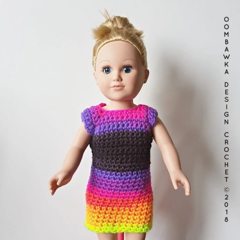 Purple Dress for Dolly 18 Inch Doll Clothes