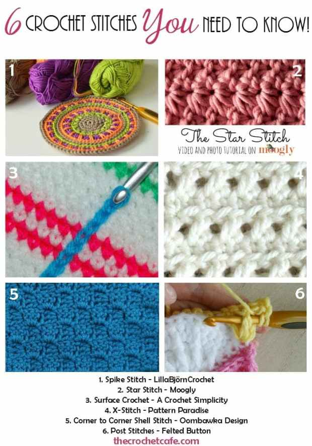 6 Crochet Stitches You Need to Know! | The Crochet Cafe