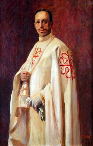 S.M. D. Alfonso XIII de Borbón vestido con el hábito de Calatrava