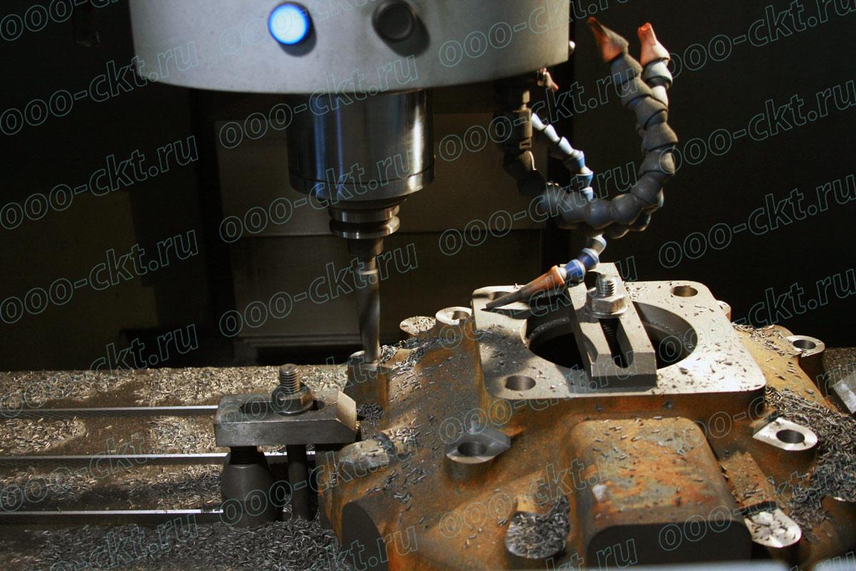 Фрезерование цилиндра компрессора на фрезерном станке с ЧПУ