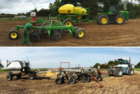 Top: John Deere. Bottom: Pillar Laser