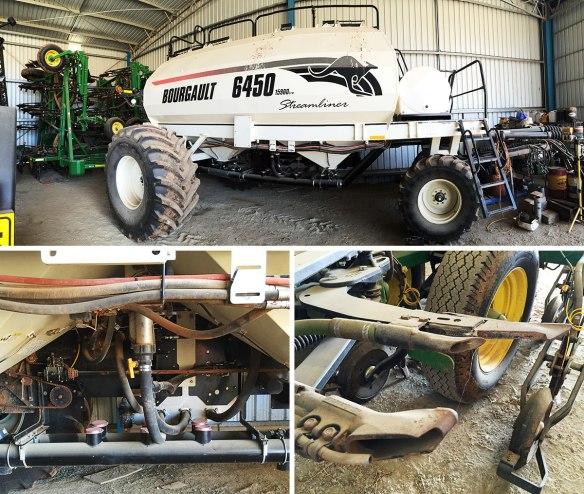 A JD Conservapak drill, with a massive seed & fertiliser cart