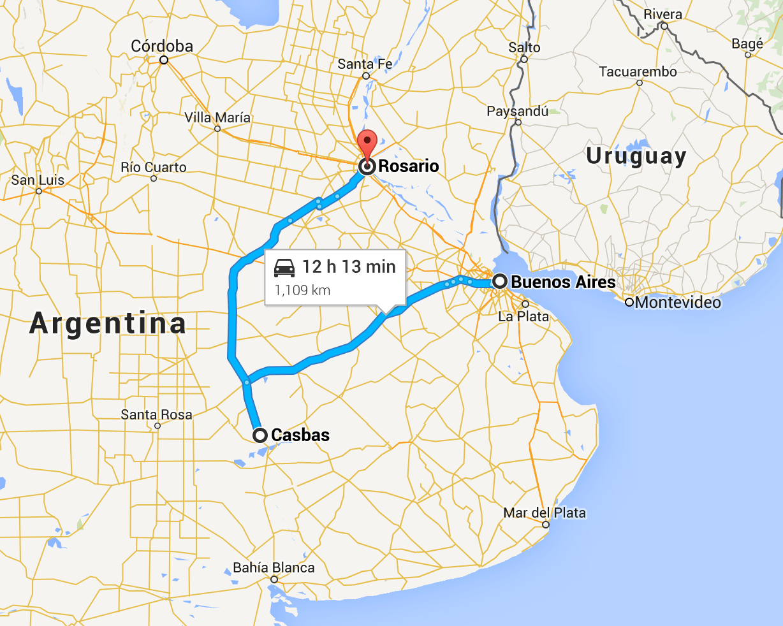 Argentina Thriplow Farms - Argentina map bahia blanca