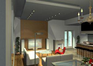 Architekt Pabianice OOO studio Architektura i Design portfolio projekt wnetrza mieszkanie 5