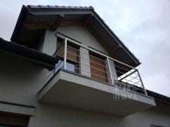 Architekt Pabianice OOO studio Architektura i Design Balustrada balkonowa stal nierdzewna profil kwadratowy 2