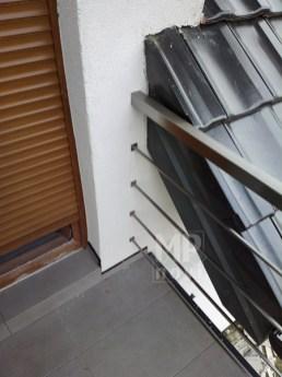 Architekt Pabianice OOO studio Architektura i Design Balustrada balkonowa stal nierdzewna profil kwadratowy 3