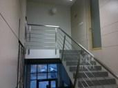 Architekt Pabianice OOO studio Architektura i Design Balustrada schodowa stal nierdzewna skosna 1