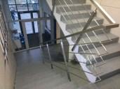 Architekt Pabianice OOO studio Architektura i Design Balustrada schodowa stal nierdzewna skosna 2