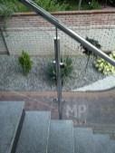 Architekt Pabianice OOO studio Architektura i Design Balustrada zewnetrzna stal nierdzewna wypelnienie szklane 3