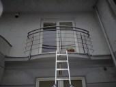 Architekt Pabianice OOO studio Architektura i Design stal nierdzewna balustrada balkonowa nietypowa na zamowienie 2