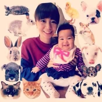 福田萌と子供