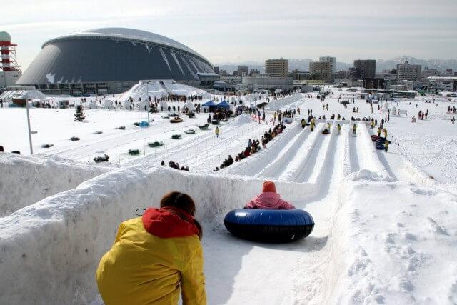 さっぽろ雪まつり つどーむ会場雪像