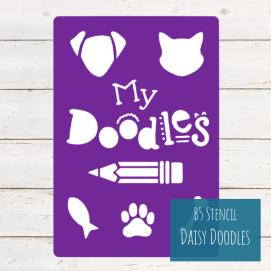 B5 Stencil Daisy Doodles