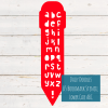 Daisy Doodles - Lower Case Bookmark