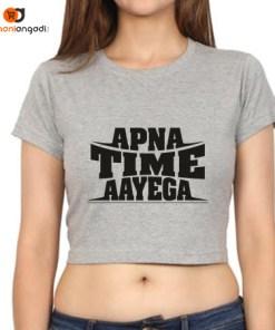 Apna Time Aayega Crop Top
