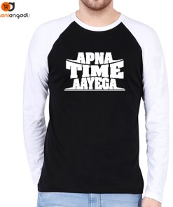 Apna Time Aayega Raglan T-Shirt - Men's