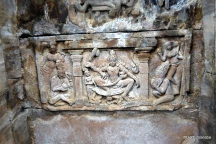 Ceiling carving - Mallikarjuna Temple, Pattadakal