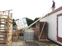 fase 1: container op startpositie