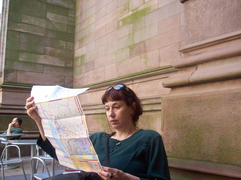 Olga Martynova in New York, 2009