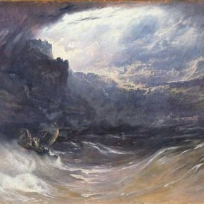 De zondvloed – John Martin, 1834 (Yale University)