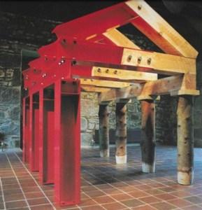Ian Hamilton Finlay Adornos Hütte 1986 87