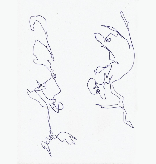 tekening door Sylvia Hubers