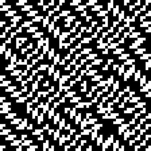 Computer Structuren 2A (1970-1971) Een kunstwerk dat Peter Struycken maakte met behulp van  software van Greta Monach